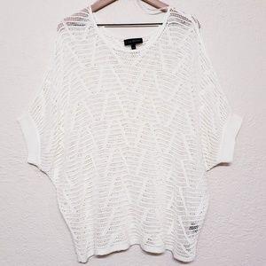 Lane Bryant crochet dolman sleeves top size 22/24